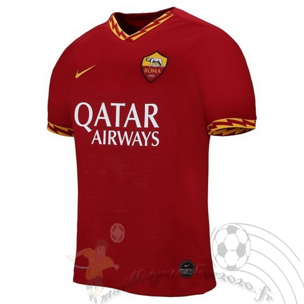 Maillot Foot Personnalisé Vente Nike Domicile Maillot As Roma 2019 2020 Rouge