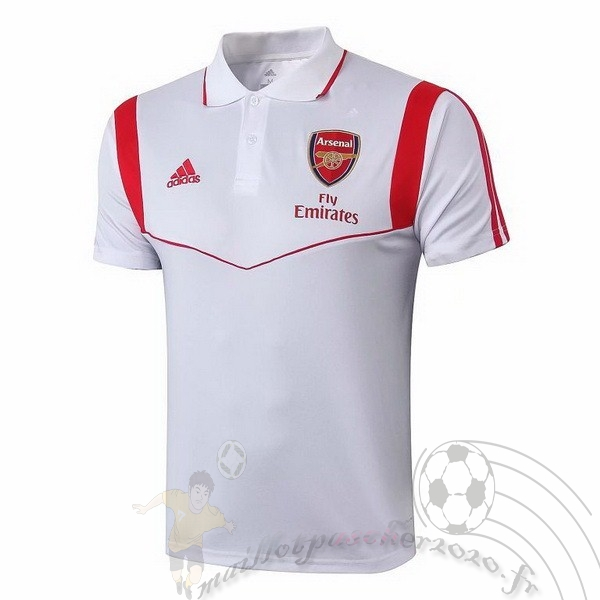 Maillot Foot Personnalisé Vente adidas Polo Arsenal 2019 2020 Blanc Rouge