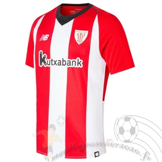 Maillot Foot Personnalisé Vente New Balance Domicile Maillot Athletic Bilbao 2018 2019 Rouge Blanc