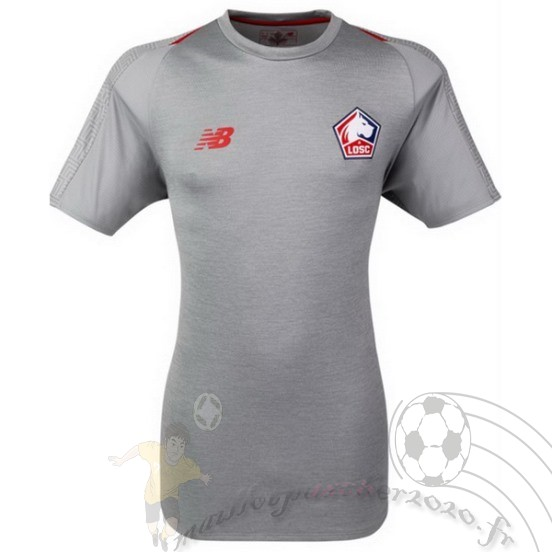 Maillot Foot Personnalisé Vente New Balance Third Maillot Losc 2018 2019 Gris