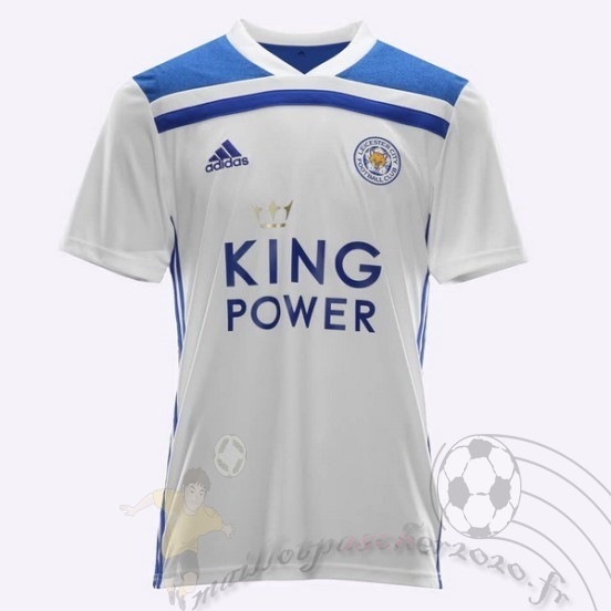 Maillot Foot Personnalisé Vente Adidas Thailande Third Maillot Leicester City 2018 2019 Blanc