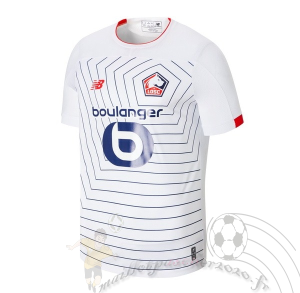 Maillot Foot Personnalisé Vente New Balance Third Maillot LOSC 2019 2020 Blanc