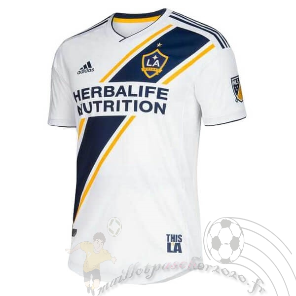 Maillot Foot Personnalisé Vente adidas Domicile Maillot Los Angeles Galaxy 2019 2020 Blanc