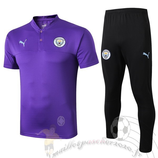 Maillot Foot Personnalisé Vente PUMA Ensemble Polo Manchester City 2019 2020 Purpura