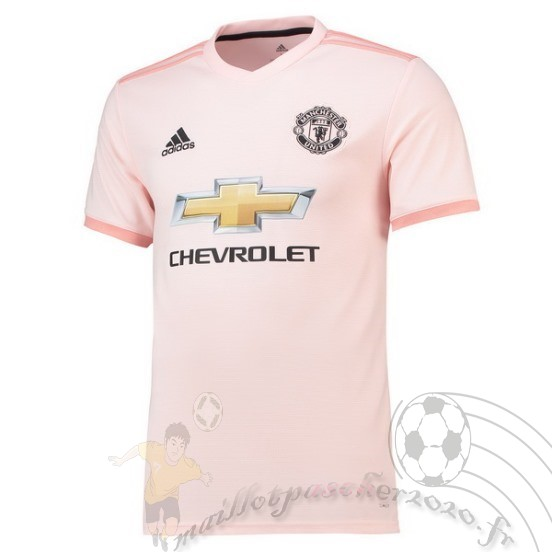 Maillot Foot Personnalisé Vente Adidas Exterieur Maillot Manchester United 2018 2019 Rose