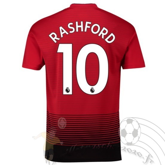 Maillot Foot Personnalisé Vente Adidas No.10 Rashford Domicile Maillot Manchester United 2018 2019 Rouge