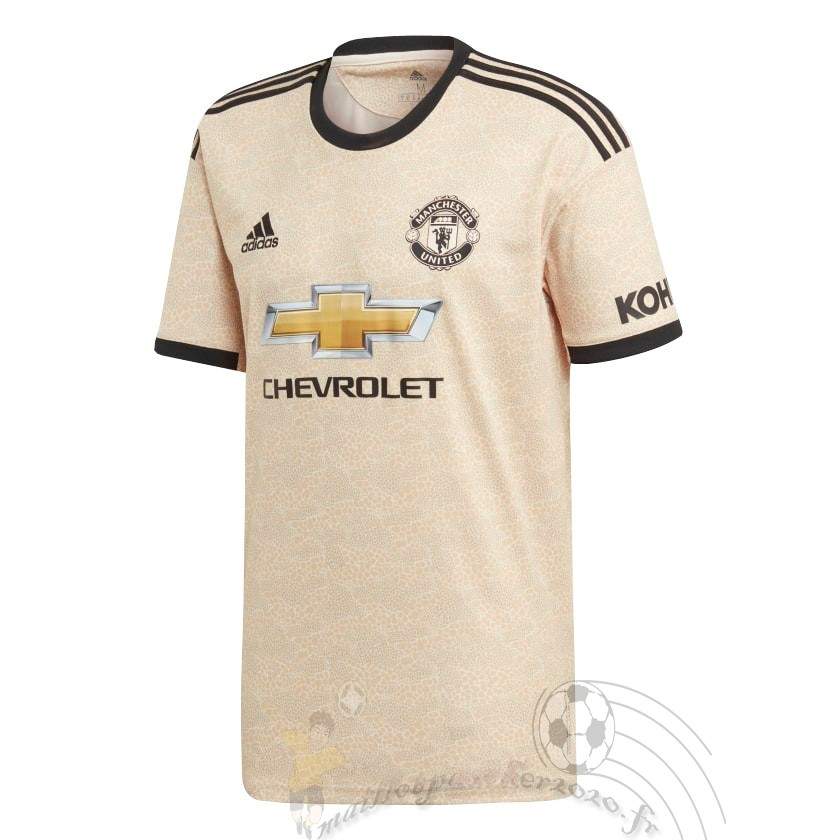 Maillot Foot Personnalisé Vente Adidas Exterieur Maillot Manchester United 2019 2020 Amarillo