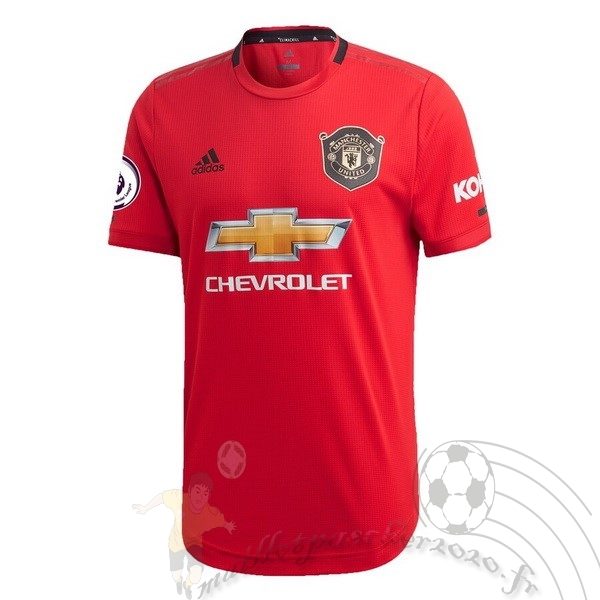 Maillot Foot Personnalisé Vente adidas Domicile Maillot Manchester United 2019 2020 Rouge