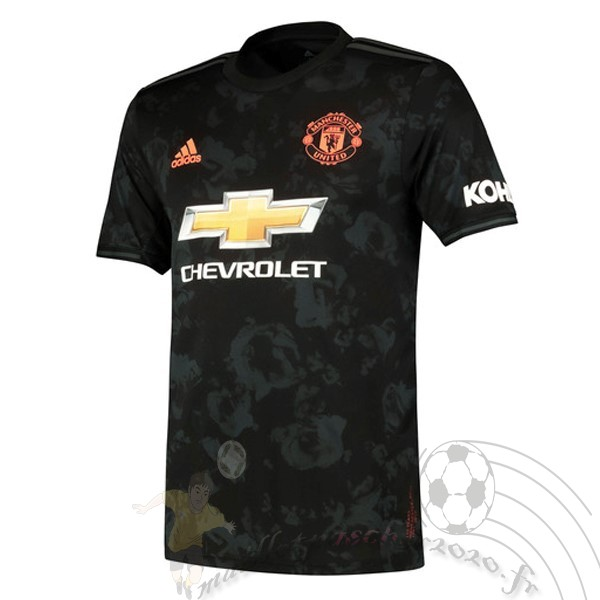 Maillot Foot Personnalisé Vente adidas Third Maillot Manchester United 2019 2020 Noir
