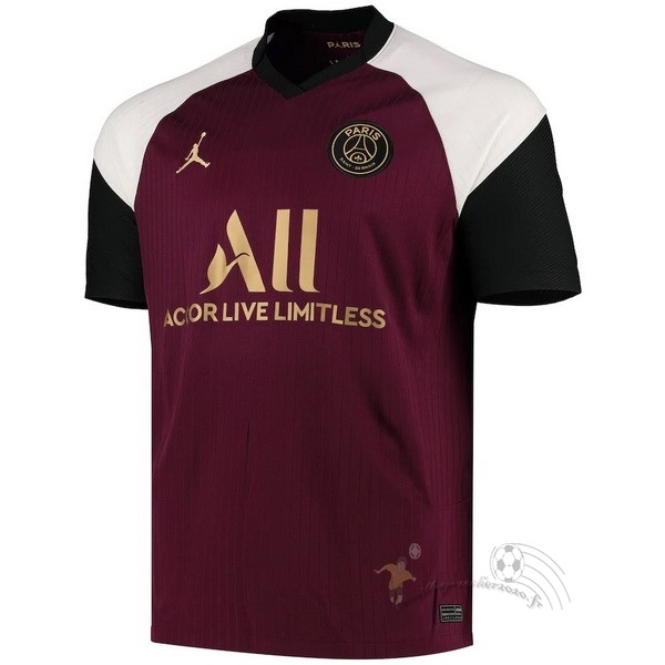 Maillot Foot Personnalisé Vente JORDAN Third Maillot Paris Saint Germain 2020 2021 Bordeaux