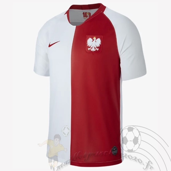 Maillot Foot Personnalisé Vente Nike Maillot Pologne 100th Blanc Rouge