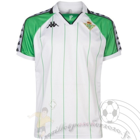 Maillot Foot Personnalisé Vente Kappa Maillot Real Betis Rétro 2018 2019 Blanc