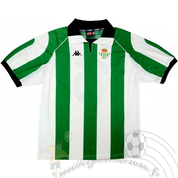 Maillot Foot Personnalisé Vente Kappa Maillot Real Betis Retro 1998 1999 Vert