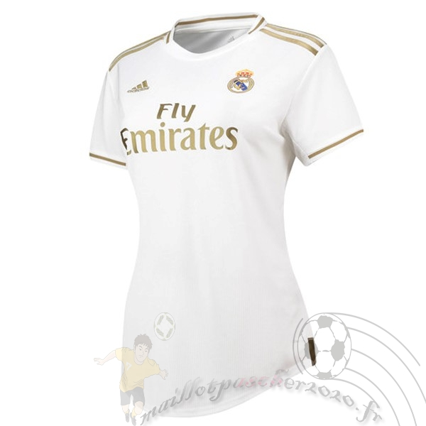 Maillot Foot Personnalisé Vente adidas Domicile Maillot Femme Real Madrid 2019 2020 Blanc