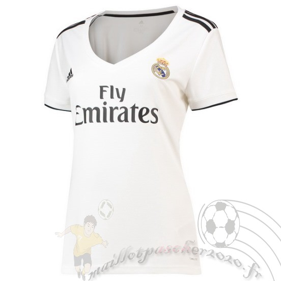 Maillot Foot Personnalisé Vente Adidas Domicile Maillot Femme Real Madrid 2018 2019 Blanc