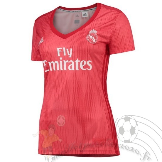 Maillot Foot Personnalisé Vente Adidas Third Maillot Femme Real Madrid 2018 2019 Rouge