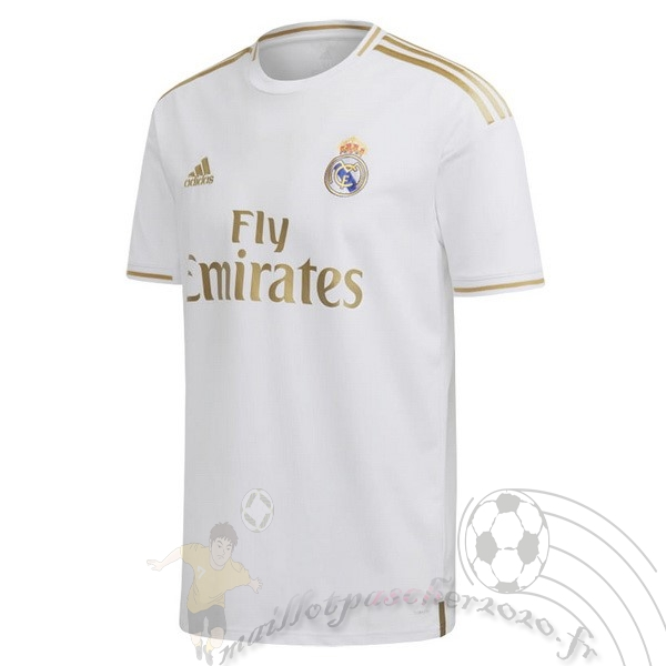 Maillot Foot Personnalisé Vente adidas Thailande Domicile Maillot Real Madrid 2019 2020 Blanc