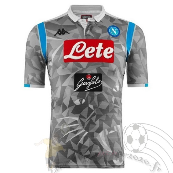 Maillot Foot Personnalisé Vente Kappa Third Maillot Napoli 2018 2019 Gris