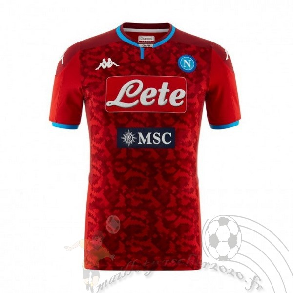 Maillot Foot Personnalisé Vente Kappa Maillot Gardien Napoli 2019 2020 Rouge