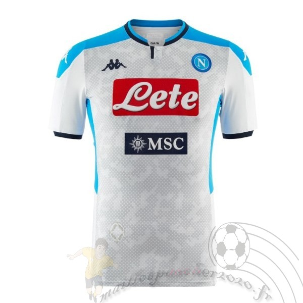 Maillot Foot Personnalisé Vente Kappa Third Maillot Napoli 2019 2020 Gris