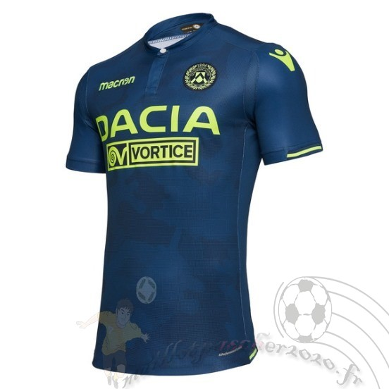 Maillot Foot Personnalisé Vente Macron Third Maillot Udinese 2018 2019 Bleu