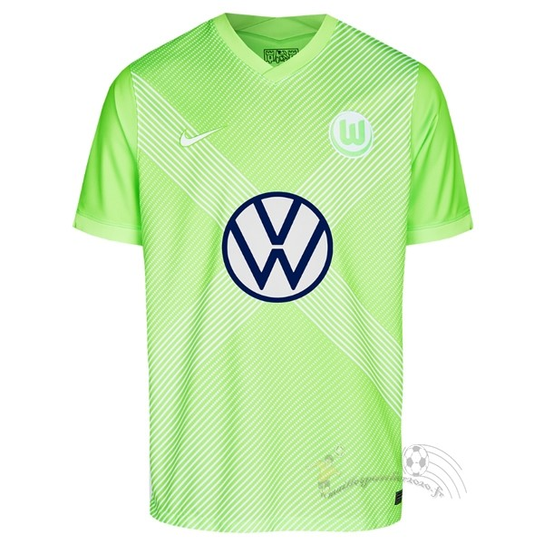 Maillot Foot Personnalisé Vente Nike Domicile Maillot Wolfsbourg 2020 2021 Vert